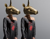 Unicorn Mask - Make your own 3D mask from recycled card