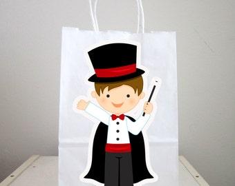Magician Goody Bags, Magician Favor Bags, Magician Gift Bags, Magician Party Bags, Magician Party Favors