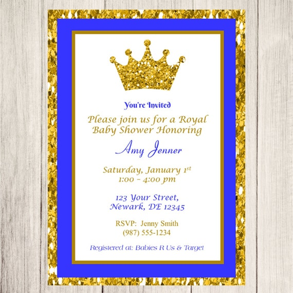 baby shower invitation royal prince baby shower invite royal