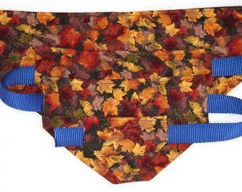 Dog Bandana - S-XL - Autumn Leaves - Cotton - FREE Shipping