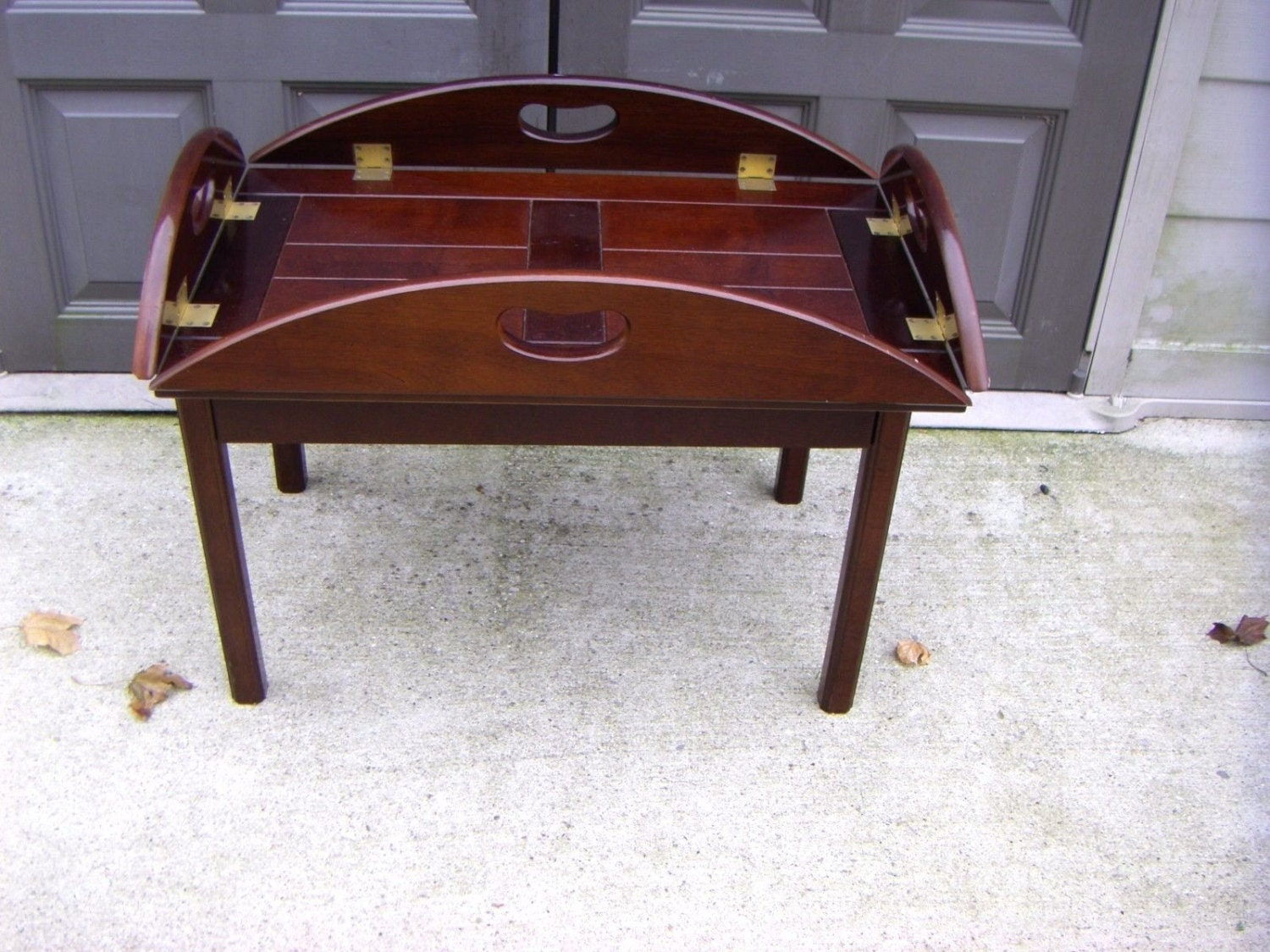 Bombay company english butler tray coffee table Butler coffee tables