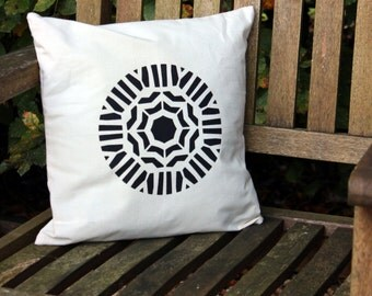 Plafond Geometric Screen Printed Cushion