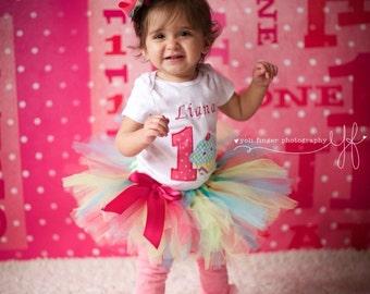 1st Birthday Cupcake Tutu Outfit