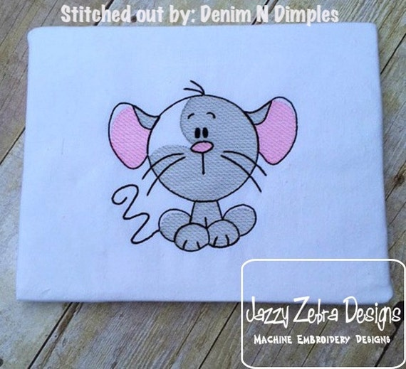 Mouse Sketch Embroidery Design - mice Sketch Embroidery Design - farm Sketch Embroidery Design - baby Sketch Embroidery Design
