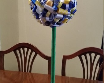 NFL teams:  Large San Diego Chargers Ribbon Topiary. Great game-watching and birthday party decoration, gifts or room decor!