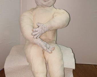 Ceramic Mummy Doll