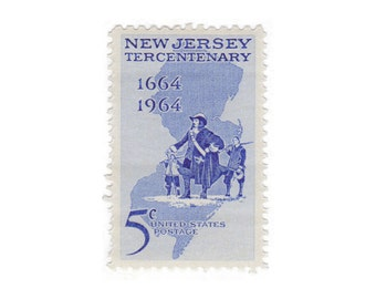 Qty of 10 - Unused 1964 Vintage Postage Stamp - New Jersey - No. 1247