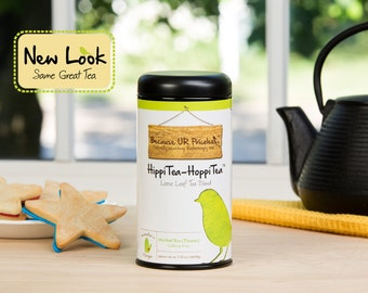 Organic tea, HIPPITEA HOPPITEA, loose leaf, raspberry leaf tea, spearmint, iced tea