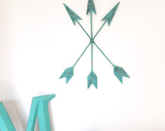 Metal Arrow Decor / Metal Arrows / Tribal Arrows / Tribal Decor / Nursery Decor / Rustic Arrows / Metal Wall Decor