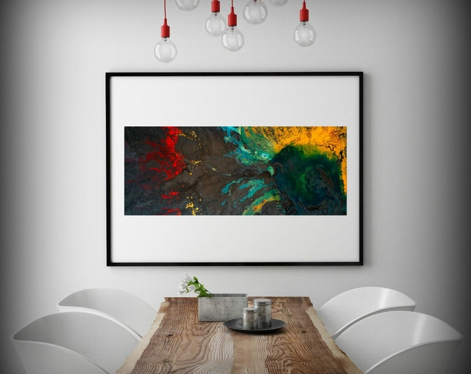"Abstract Painting Print, Art Painting Variety of sizes, Dark Art, Colorful Painting, Wall Prints, Wall Decor Living Room ""Rise Above"""