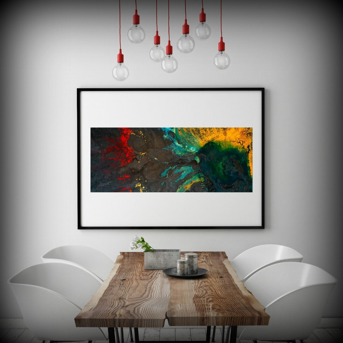 Abstract Painting Print  Art Variety of sizes Dark Colorful Wall Prints Decor Living Room Rise Above