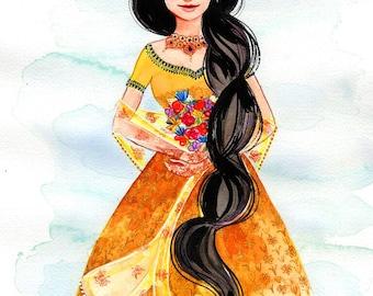 "8x10"" Indian Bride Fine Art Quality Print"