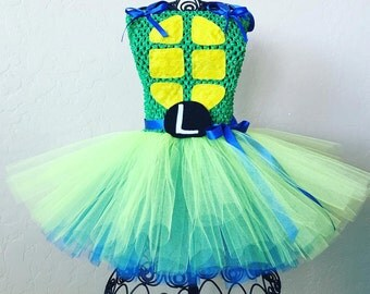 Teenage Mutant Ninja Turtles Tutu WITH LETTER / tmnt tutu / tmnt costume / Teenage Mutant Ninja Turtles girls costume / Ninja Tutus tutu