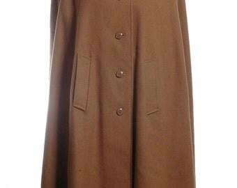 Vintage 1960's Brown Button Up Cape - www.brickvintage.com