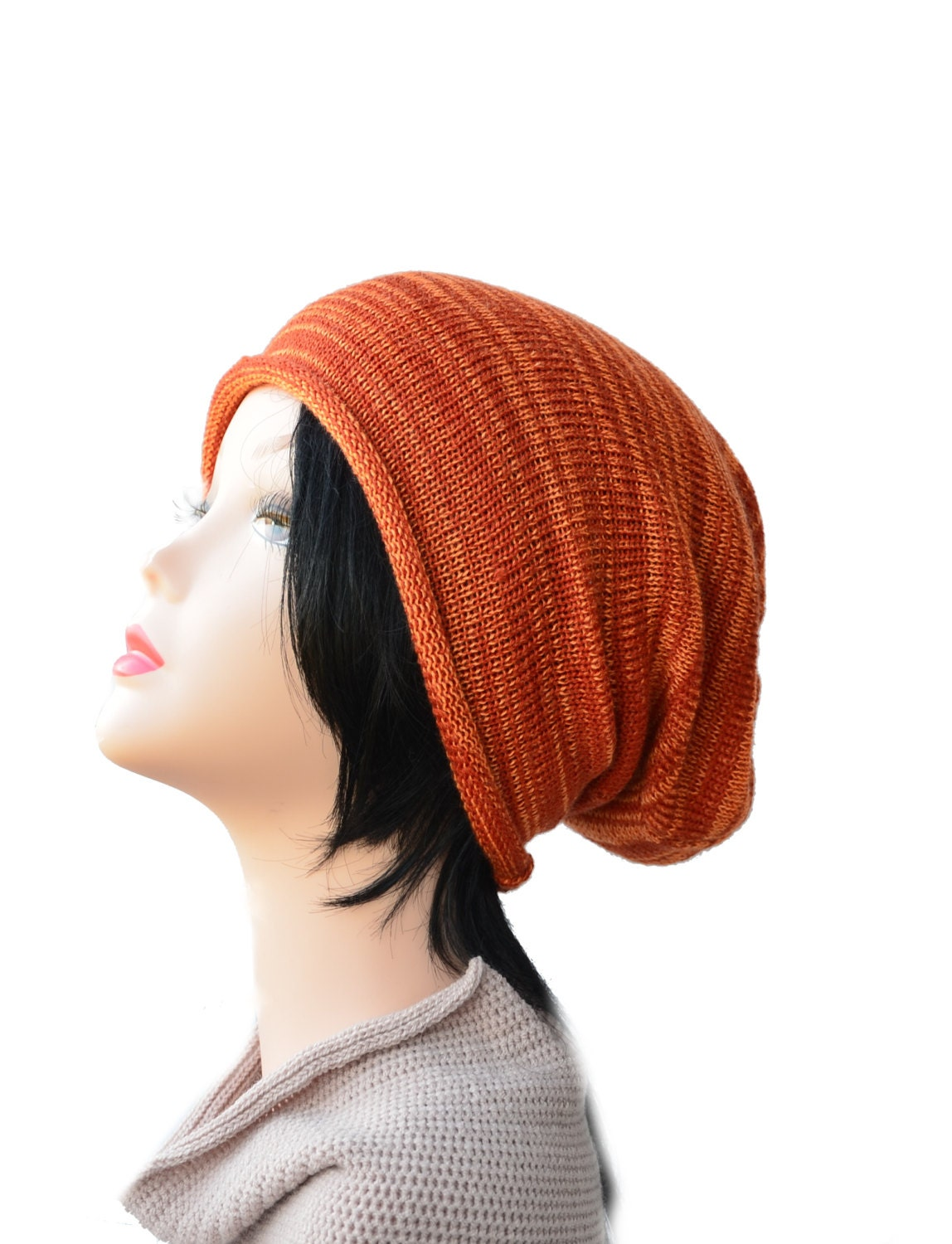 Knitting Hat For Women : Knit slouchy beanie hat knitted woman
