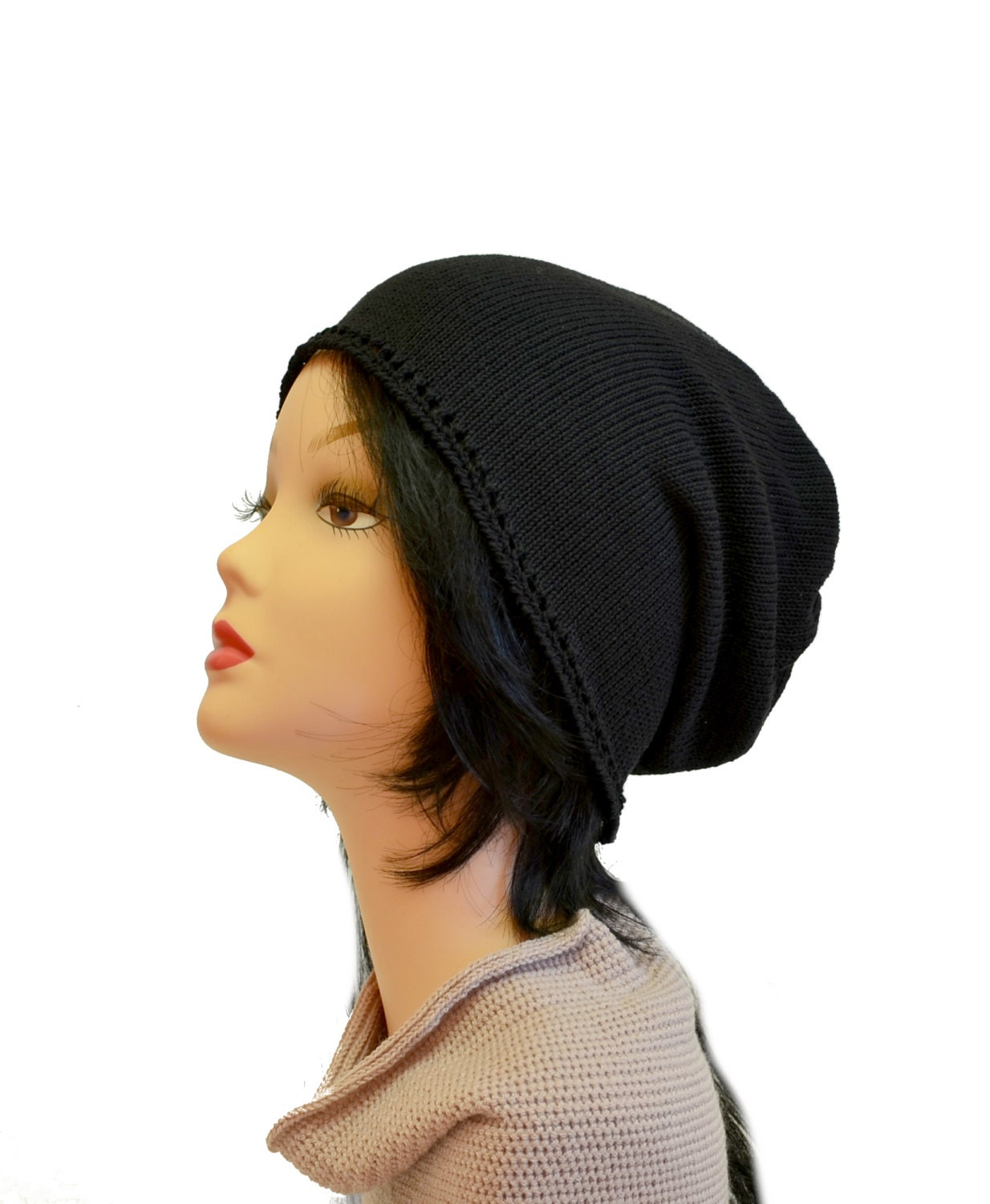 Mens Cotton Slouchy Beanie 90673d2bb7bf