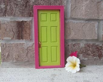 Pink Green Fairy Door