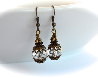 Vintage Style Earrings, Elegant And Chic Earrings, Gift For Her, Gift Under 15 Dollar.