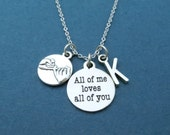 Personalized, Letter, Initial, All of me loves all of you, John Legend, All Of Me Lyrics, John, Legend, Love, Pinky, Promise, Gift, Jewelry