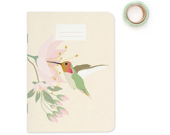 Pocket size Notebook - Hummingbird | A6 - 4.13 x 5.83""