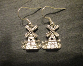 Petite Dutch Windmill Charm Earrings