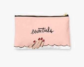 Zipper Pouch Accessory: Essentials {Cute Pencil Pouch, Makeup Pouch, Cosmetic Case}
