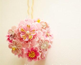 Wedding Hair fork, bridal Hair Flower, Bridal Hair stick, Flower accessories, Floral hair pins, Pink Wedding, Bridal Gift-Z11