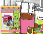 Hipster paper toys - 'Mavis' makeforgood DIY craft activity kit - Great gift for kids and crafters - DIGITAL DOWNLOAD