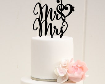 music wedding cake toppers treble bass clef etsy 17670