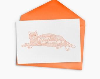 Happy birthday cat Greeting Card