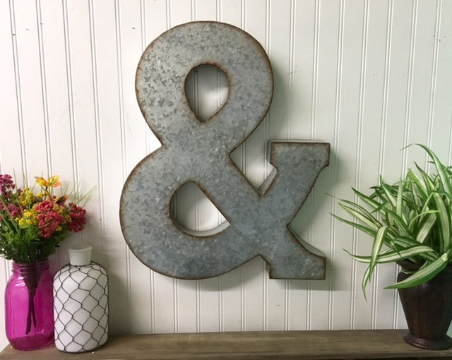 large metal letters metal letters ampersand large ampersand galvanized 1349