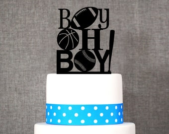 Boy Oh Boy Cake Topper - Baby Boy Sports Cake Topper by Chicago Factory- (T125)