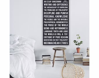 Philosophy art - Philosophical Stations - educational poster from Seminal Philosophy books