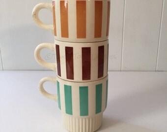 Vintage Stacking Mugs