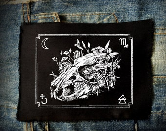 Rat Skull Patch | Punk Patches | Patches | Horror | Black