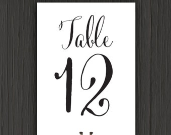Table Numbers,Wedding Table Numbers Printable, Reception Table Decor