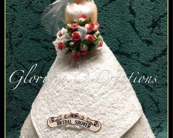 Here Comes the Bride Towel Cake