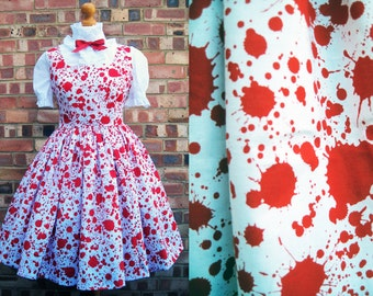 Blood Spatter Dress Guro Lolita Pinafore - Please Read ITEM DETAILS - Carrie Prom Dexter Hannibal -  All Sizes - Fully Lined