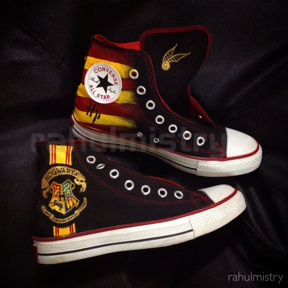 Hogwarts Harry Potter HandPainted Converse by PaintYourChucks