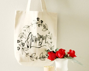Flower Girl Tote Bag, Flower Girl Gift, Flower Girl Bag, Flower Girl,