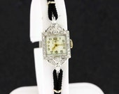 Elgin Platinum and DIamond Wrist Watch