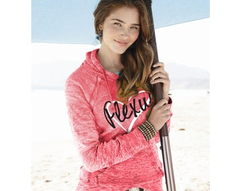 Heart Plexus Burnout V-Notch Sweatshirt  70120DW