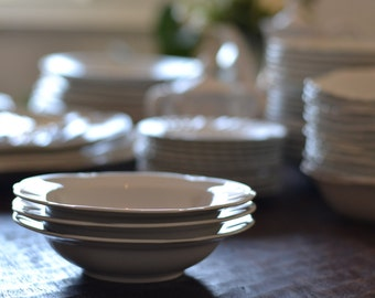 Ironstone Bowls | Set of 3 | Simple and Stately with a Touch of Flair