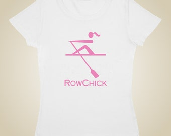Woman's rowing shirt - RowChick logo