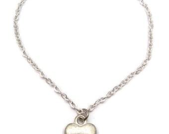 Tiny Heart Bracelet  Tiny Heart Jewelry  Gifts Under 20 Simplistic Heart Bracelet Love Jewelry Love Gift