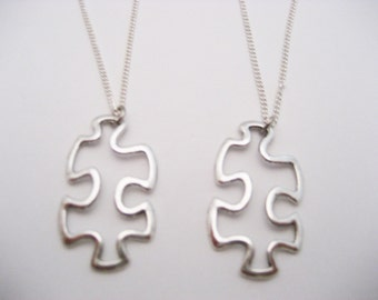 Autism Awareness Necklace Set Puzzle Necklace Set Puzzle Piece Necklace Set Awareness Gifts Awareness Jewelry Puzzle Piece Jewelry