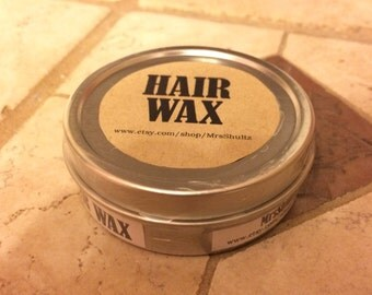 For Men, Homemade Natural Hair Wax / Styling Wax / Pomade, Semi-Dry: Rosemary-and-Peppermint, Frankincense, or Unscented