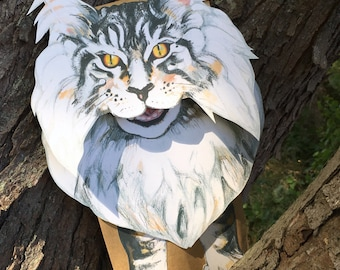 Puppet - MIGHTY MAINE COON - Printable Puppet - Instant Download pdf