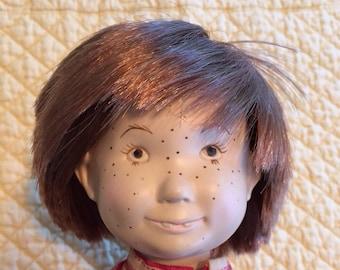 "Toby – Suzanne Gibson Kalico Kids 18"" vinyl doll – vintage 1970s"