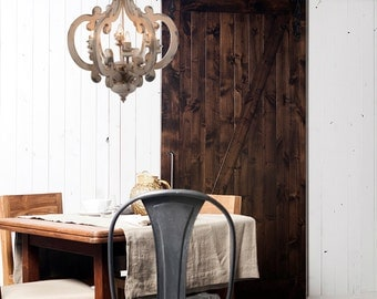 White Distressed Chandelier Painted 6 Light/Pendant Light/French Country Lighting/Shabby Chic Lighting/Farmhouse Lighting/Chandelier/Light